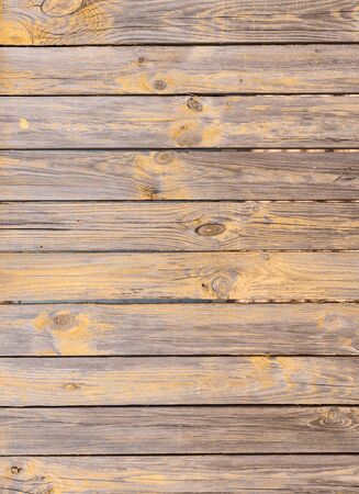 old texture: old planked wooden background with peeling paint residues Stock Photo