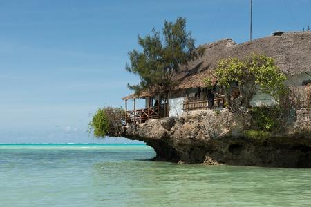 Rock Restaurant over the sea in Zanzibar, Tanzania, Afrika