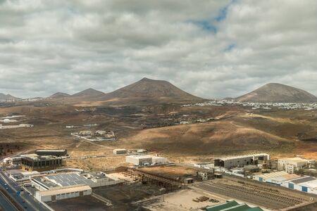 industrial buildings in aerial view  photo