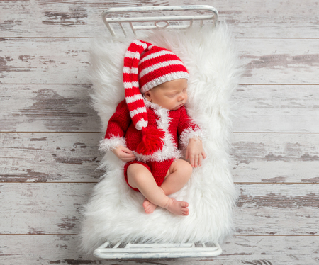 christmas costume: Kid in a Christmas costume, topview
