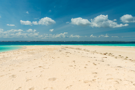 turquoise water: sandbank with transparent turquoise water Stock Photo