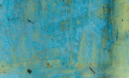 wall with old blue paint