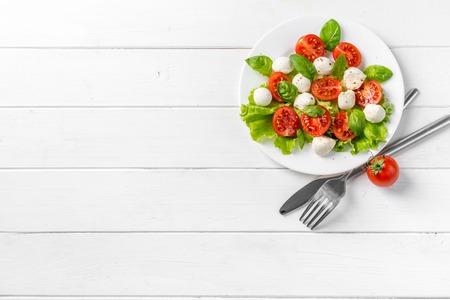 Gourmet greek salad, text space left Stock Photo