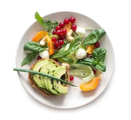 Geïsoleerde Vegetarische Salade
