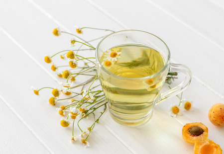 chamomile tea with apricots