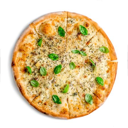 分離されたピザ 4 チーズ