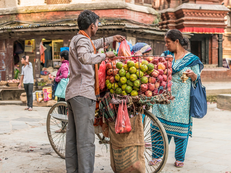 카트만두의 과일 시장