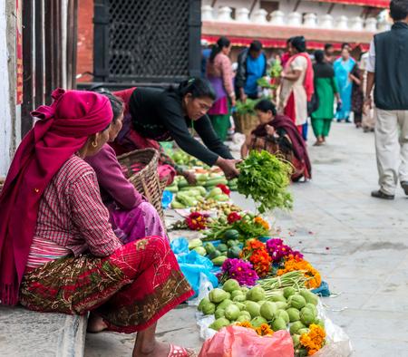 passerby: fruit market in Kathmandu