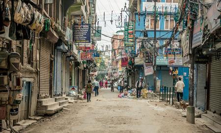 People walking at Durbar Square in Kathmandu Stock Photo - 88660322