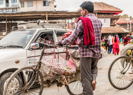 fruit market in Kathmandu