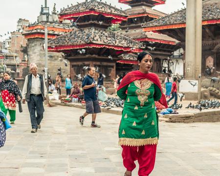 People walking at Durbar Square in Kathmandu Editorial