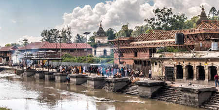 PASHUPATINATH. CATMANDU. NEPAL. Stock Photo - 88660336