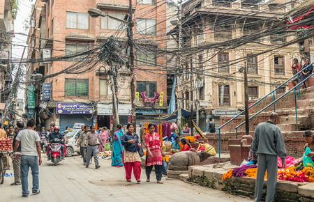 People walking at Durbar Square in Kathmandu Editorial