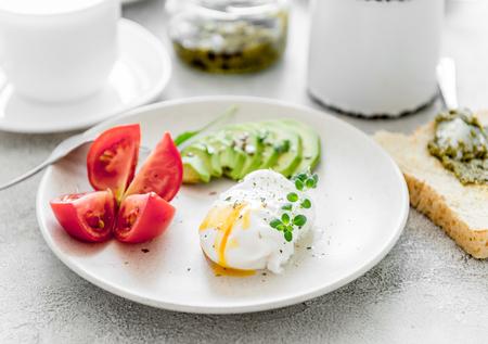 ヘルシーなベジタリアン朝食