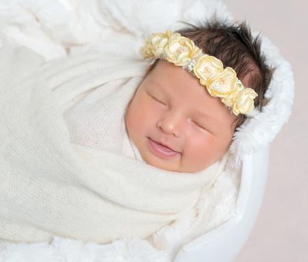 sweet sleeping newborn baby