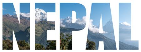Panoramisch zicht op de Himalaya, Nepal