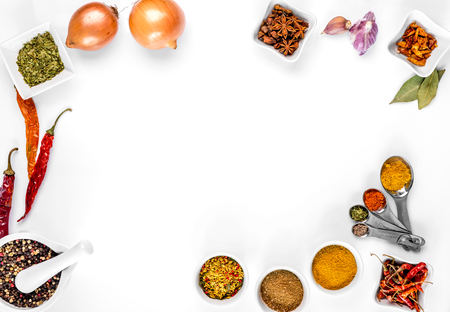 spices on white background isolated with place for text Zdjęcie Seryjne - 90000235