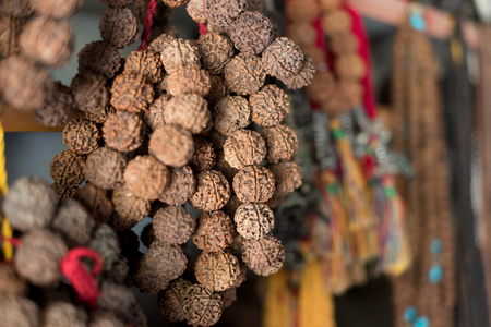 Nepalese traditional handicrafts and souvenirs Kathmandu Imagens