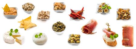 photo collage of spanish tapas isolated Stock Photo
