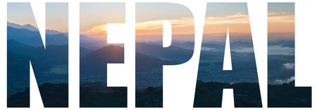 Panoramablick auf den Himalaya, Nepal Standard-Bild - 92851964