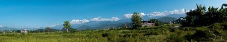 Panoramic views of the Annapurna. Himalayas. Nepal