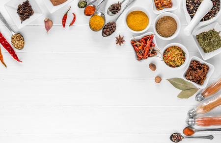 spices on white background isolated with place for text Zdjęcie Seryjne - 93197729