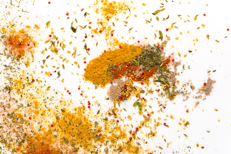 Spices abstract background Banco de Imagens