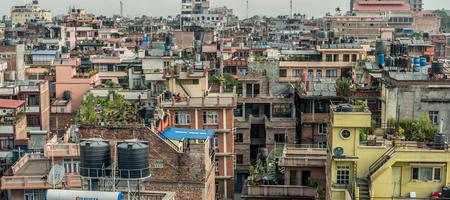 View on multistorey houses in Kathmandu, Nepal