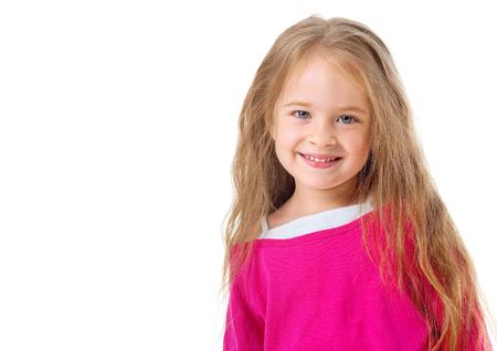 Cute little girl with long hair