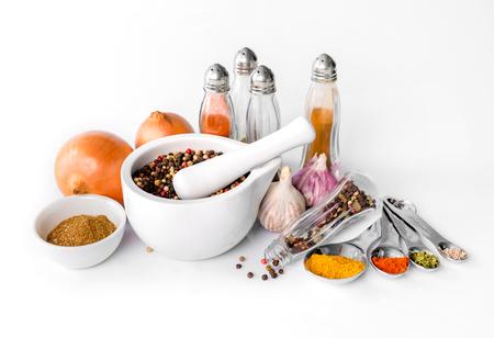 spices on a white background Zdjęcie Seryjne