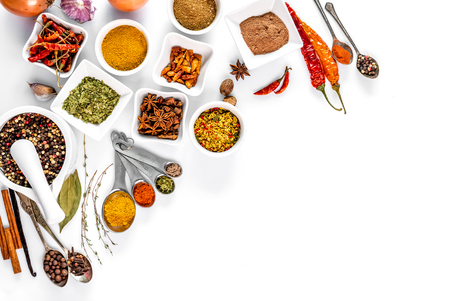 spices on white background isolated with place for text Zdjęcie Seryjne - 96764508