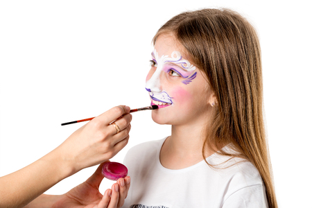 Face painting for birthday party Banque d'images - 97575289
