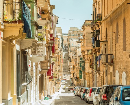 Narrow street in  Malta