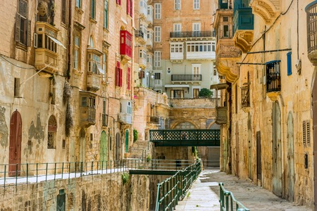 Narrow street in  Malta