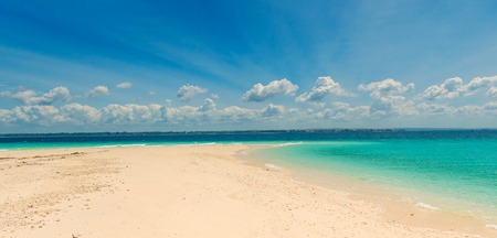 sandbank with transparent turquoise water Stock Photo