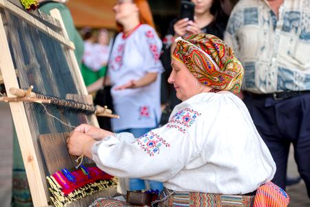 People celebrate Vyshyvanka Day, Kharkiv, Ukraine Stock Photo - 106523369