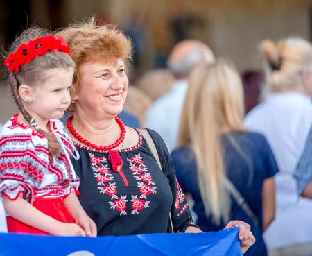 People celebrate Vyshyvanka Day, Kharkiv, Ukraine