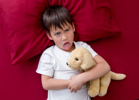 Naughty little boy wont go to sleep Stock fotó - 105805182