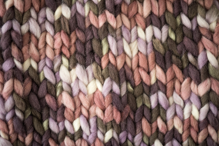 knitted pattern of thick woolen thread