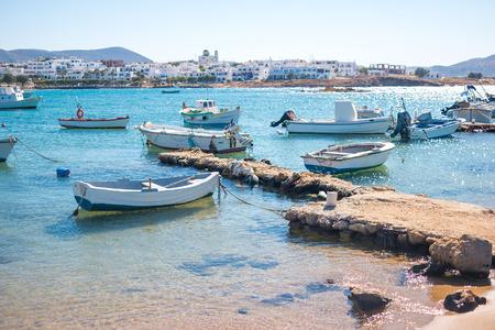 Marvelous view of sunshine greece island bay