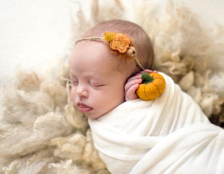 Little cute baby sweetly sleeping