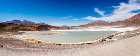 Mountanious lagoon in Bolivia Stock Photo