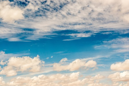 White clouds in a blue sky Standard-Bild - 112879967