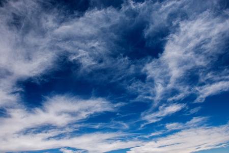 White clouds in a blue sky Standard-Bild - 112879969