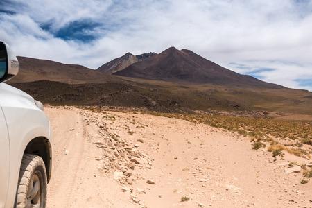 Bolivian mountains landscape Stock Photo