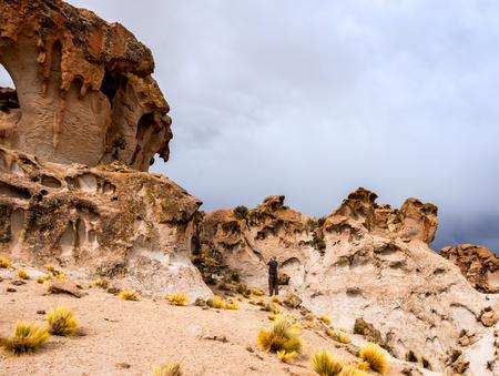spacious Bolivian landscape Stock Photo