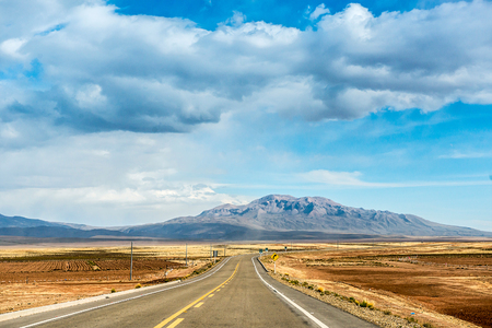 Road in Bolivia Stok Fotoğraf