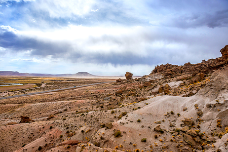 spacious Bolivian landscape Stock Photo
