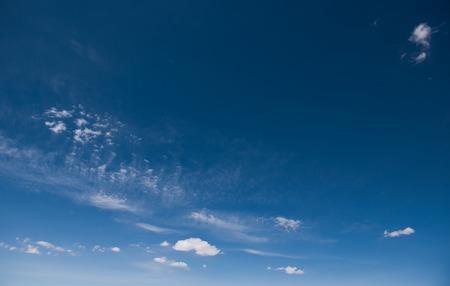 White clouds in a blue sky. Standard-Bild - 116504632