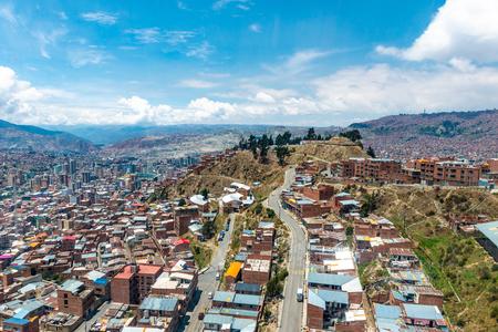 Top view of bolivian suburbs Banco de Imagens